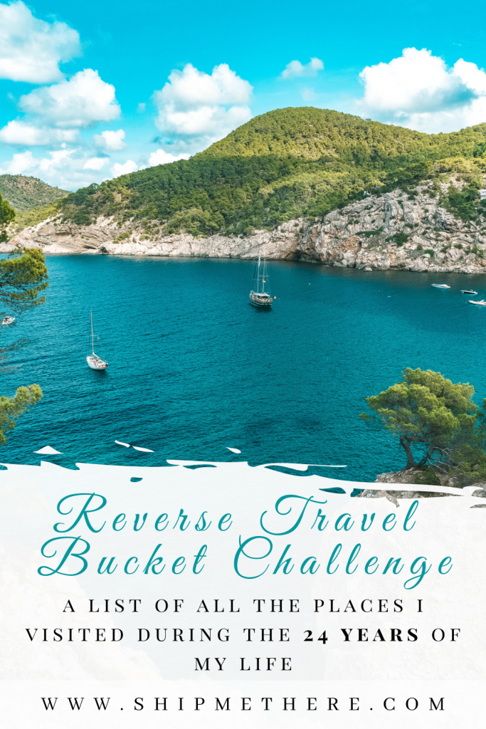 All the places I travelled to in 24 years of my life - Reverse Bucket List   Travel Bucket List   Travel Bucket Challenge   Travel Challenge   Reverse Travel Bucket Challenge